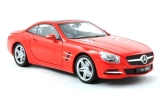 Mercedes Benz SL500 Hard Top red 1:18 Welly