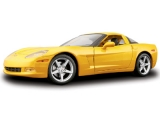 Chevrolet Corvette Coupe 2005 yellow 1:18 Maisto