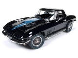 Chevrolet Corvette Roadster 1967 black 1:18 Auto World