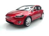 Tesla Model X 2016 red 1:18 LS Collectibles