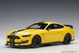 Ford Mustang Shelby GT350R triple yellow/black stripes 1:18 AUTOart