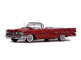 Pontiac Bonneville Convertible 1959 red 1:18 Sun Star