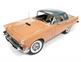 Ford Thunderbird Convertible 1957 coral/silver 1:18 Auto World