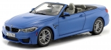BMW M4 Cabrio F83 2015 blue 1:18 Paragon Models
