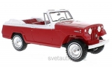 Jeep Jeepster Commando Convertible 1970 red/white 1:18 Bos Models