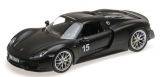 Porsche 918 Spyder #15 Weissach Package 2013 matt black 1:18 Minichamps