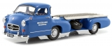 "Mercedes-Benz Renntransporter ""the blue wonder"" 1955 blue 1:18 iScale"