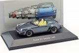 Porsche 911 Speedster 1989 blue 1:43 Atlas