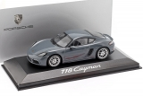 Porsche 718 Cayman Coupe 2016 grey 1:43 Minichamps