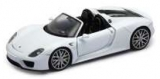 Porsche 918 Spyder Convertible white 1:18 Welly