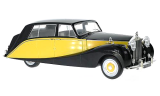 Rolls Royce Silver Wraith Empress by Hooper 1956 yellow 1:18 MCG Modelcar Group