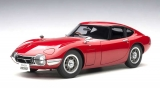 Toyota 2000 GT Coupe 1967 red 1:18 AUTOart