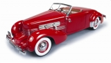 Cord 812 Cabriolet 1937 red 1:18 Auto World