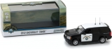 Chevrolet Tahoe California Highway Patrol 2012 black and white 1:43 Greenlight