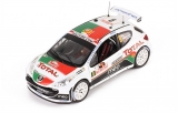 Peugeot 207 S2000 #9 B. Magalhaes - C. Magalhaes 7th Rally Monte Carlo 2010 1:43 Ixo Models