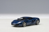 McLaren MP4-12C 2011 blue metallic 1:43 AUTOart