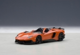 Lamborghini Aventador J Roadster 2012 orange / black 1:43 AUTOart