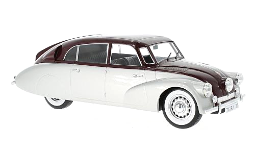 Tatra 87 1937 silver/red 1:18 MCG Modelcar Group