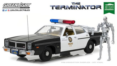 Dodge Monaco Police with Figure *The Terminator *1984 1:18 Greenlight