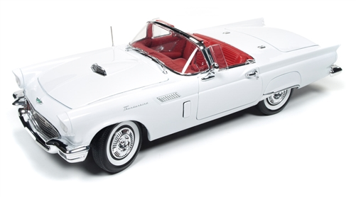 Ford Thunderbird Convertible with removable hard top 1957 white 1:18 Auto World