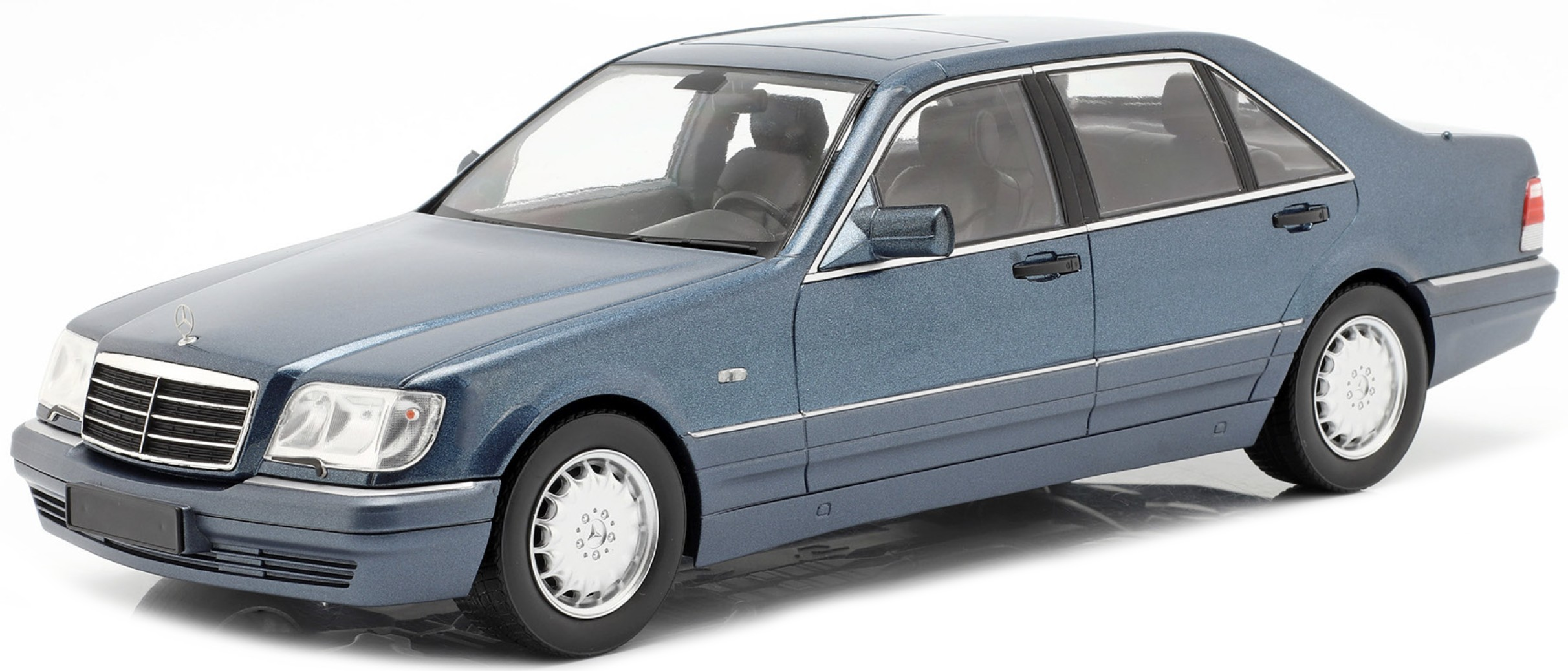 Mercedes-Benz S500 (W140) 1994-98 azurit blue 1:18 iScale