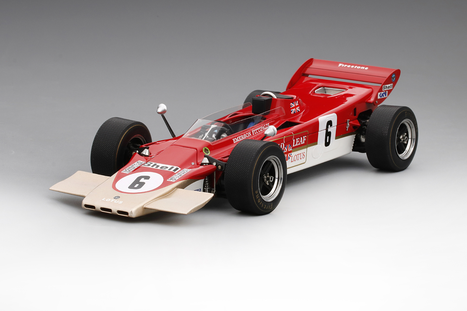 Lotus 56B #6 Race of Champions team Lotus E Fittipaldi 1971 1:18 TSM Model
