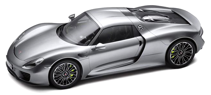 Porsche 918 Spyder Hard-Top grey 1:18 Welly