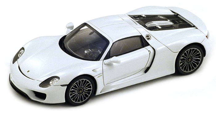 porsche 918 spyder hard top white 1 18 welly. Black Bedroom Furniture Sets. Home Design Ideas
