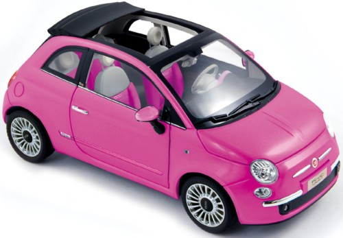 fiat nuova 500c cabriolet 2009 so pink 1 18 norev. Black Bedroom Furniture Sets. Home Design Ideas