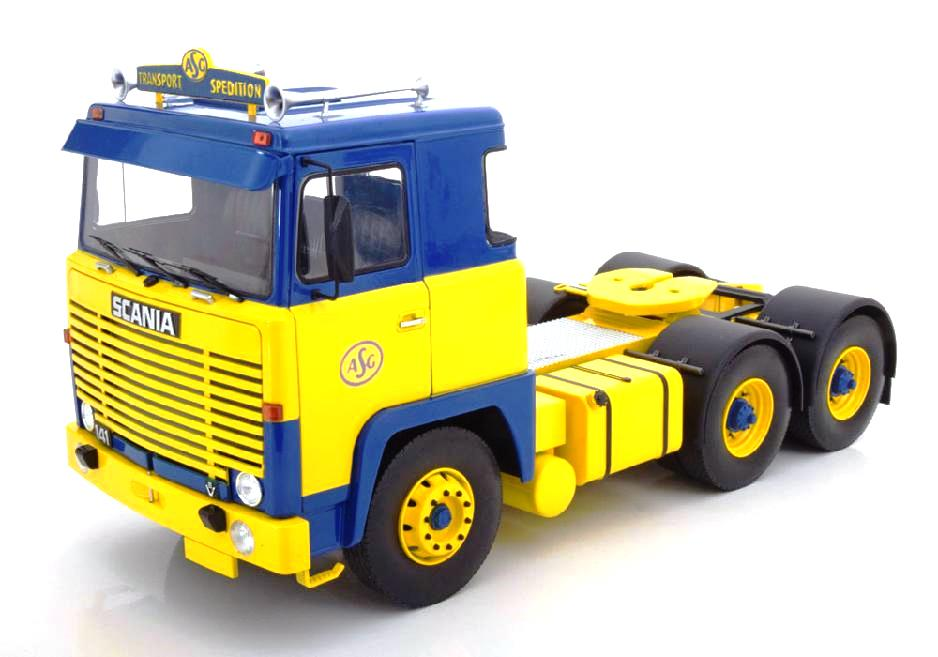Scania LBT 141 1976 yellow/blue 1:18 Road Kings