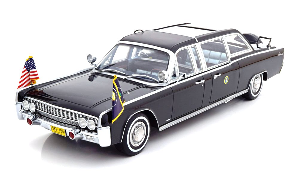Lincoln Continental X100 Quick Fix Johnson 1964 black 1:18 CMF