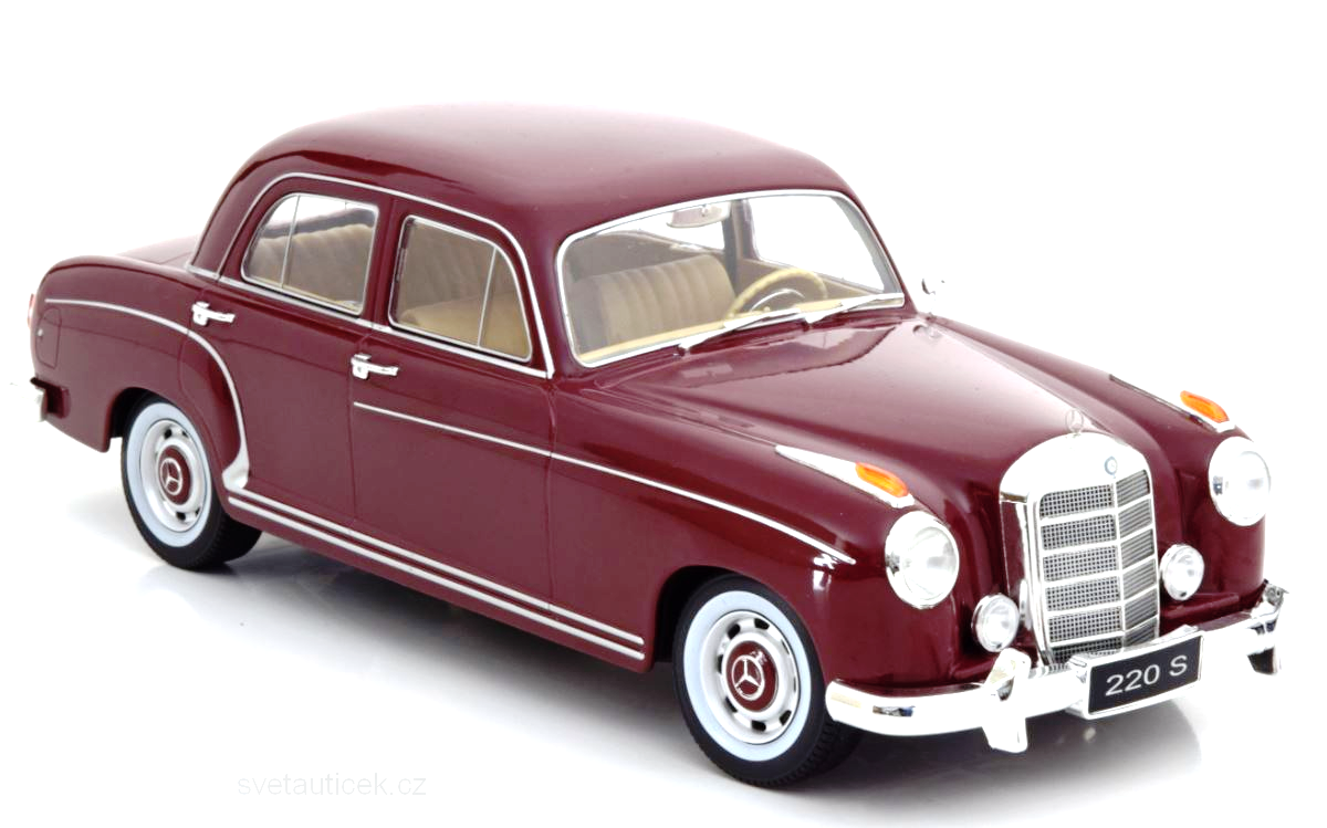 Mercedes 220 S Limousine red 1:18 KK Scale