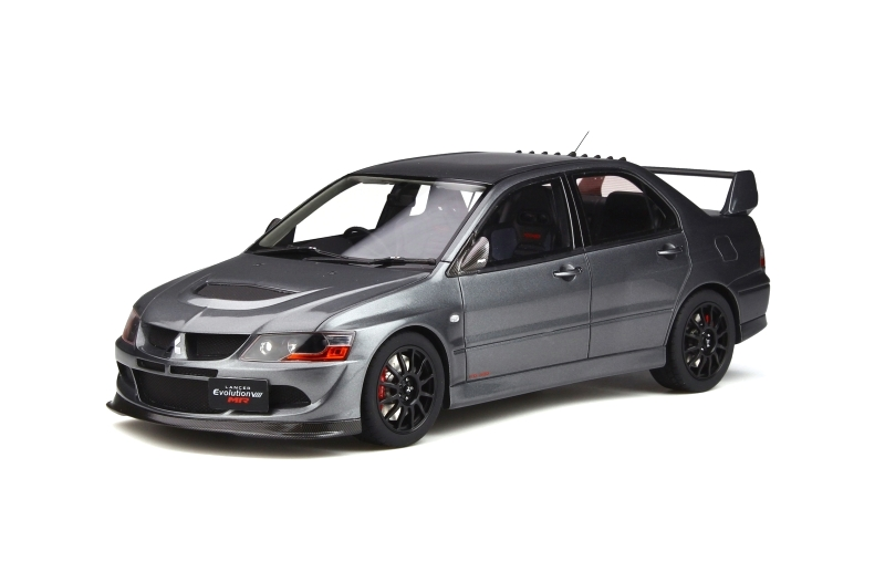 Mitsubishi Lancer Evo 8 MR FQ-400 2005 Gun Metal Grey 1:18 OttOmobile