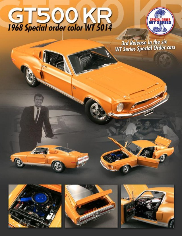 Shelby GT500KT 1968 orange 1:18 Acme Diecast