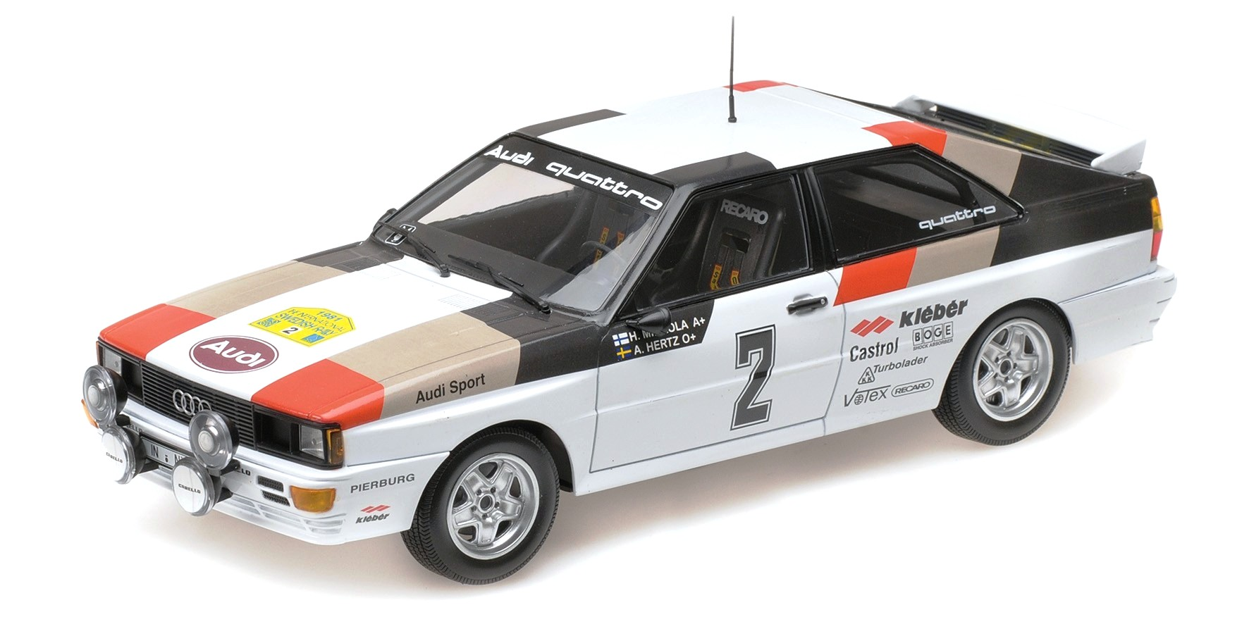 Audi Quattro Audi Sport Winner International Swedish Rally 81 1:18 Minichamps
