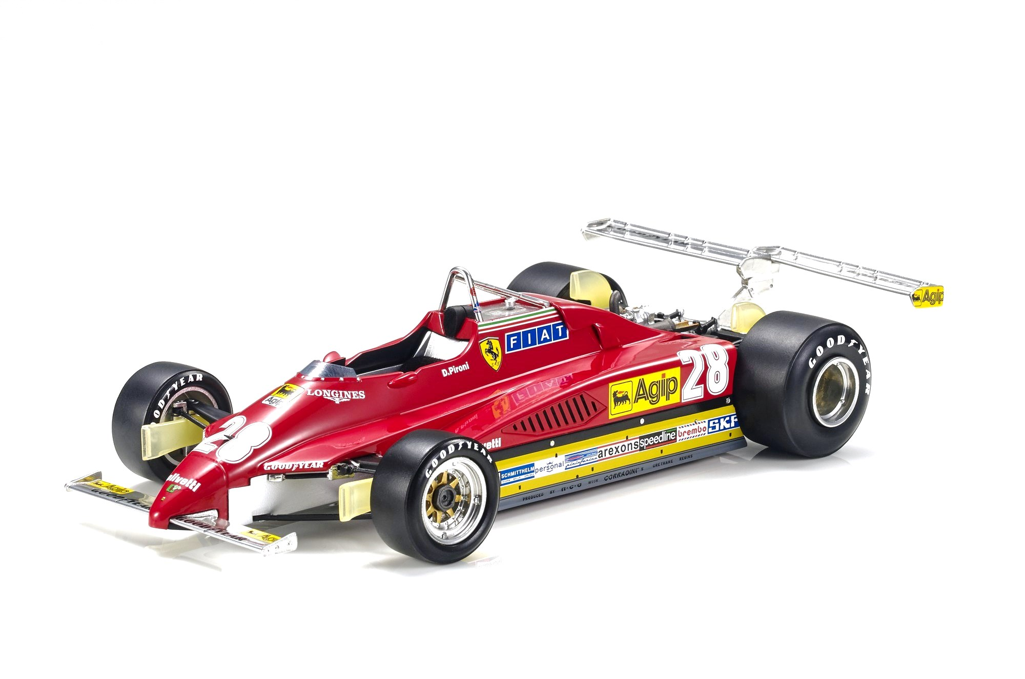 Ferrari F1 126 C2 #28 D.Pironi Long Beach GP 1982 1:18 GP Replicas