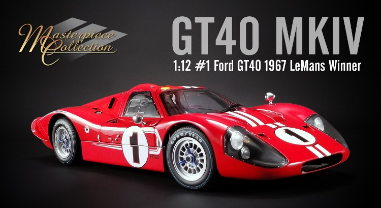 Ford GT40 MKIV #1 Winner 24h Le Mans 1967 1:12 Acme