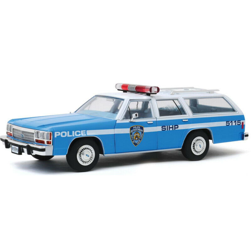 Ford LTD Crown Victoria Wagon New York City Police Dept 1988 blue/white 1:18 Greenlight