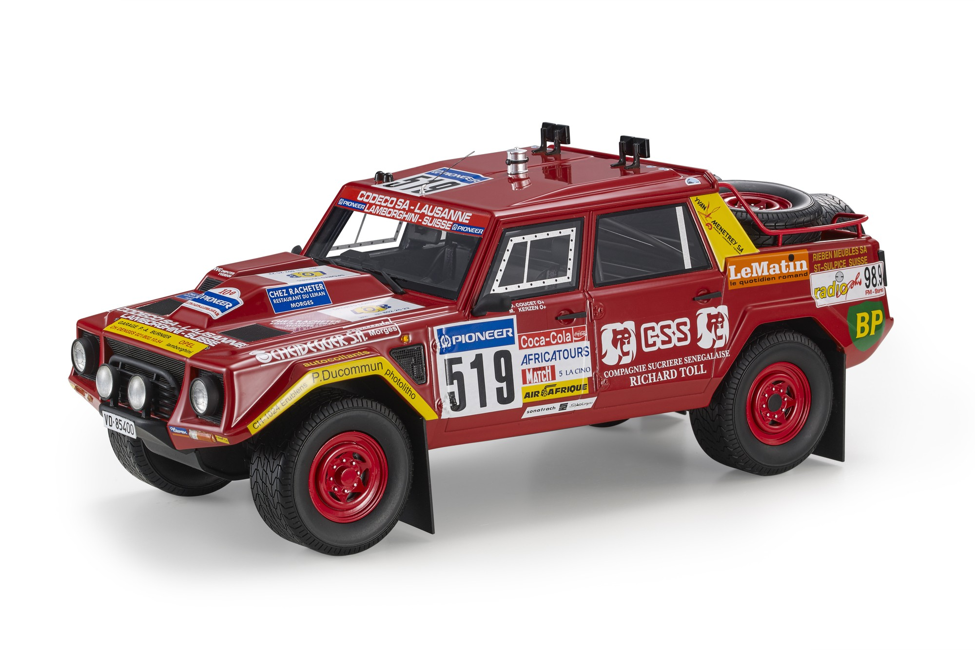 Lamborghini LM002 Pick-Up #519 Coucet/Kerzen Rally Paris Dakar 1988 1:18 Top Marques
