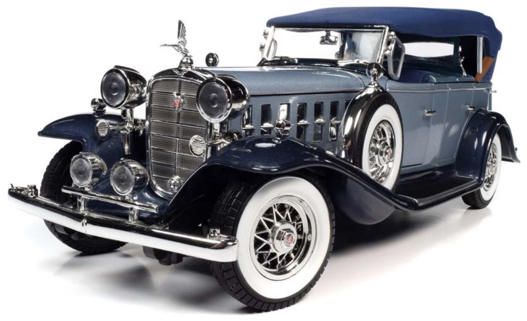 Cadillac V16 Sports Phaeton 1932 light blue/dark blue 1:18 Auto World