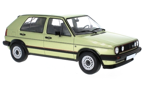 Volkswagen Golf II GTI 1984 light green metallic 1:18 MCG Modelcar Group