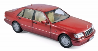 Mercedes-Benz S500 1997 red 1:18 Norev
