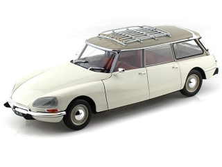Citroen DS 21 Break 1970 white 1:18 Norev