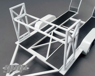 Trailer with Tire Rack High Quality black 1:18 G.M.P.