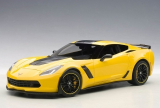 "Chevrolet Corvette C7 Z06 ""C7R Edition"" 2015 yellow 1:18 AUTOart"