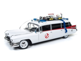Cadillac Ambulance 1959 *Ghostbusters Ecto-1* white/red 1:21 Auto World