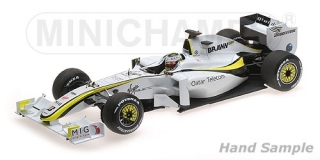 Brawn GP BGP001 Jenson Button World Champion 2009 1:18 Minichamps