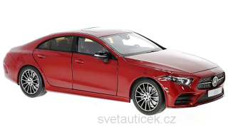 Mercedes-Benz CLS Coupe (C257) 2018 metallic red 1:18 Norev