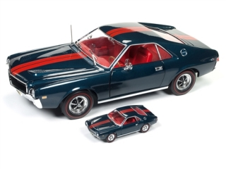 AMC AMX Hardtop 50th Anniversary model 1968 blazer blue/red 1:18 Auto World