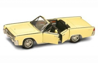 Lincoln Continental 1961 yellow 1:18 Lucky Diecast